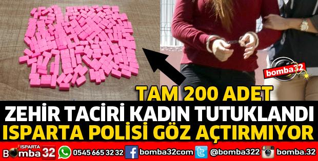 ÜZERİNDEN TAM 200 ADET HAP ELE GEÇİRİLDİ