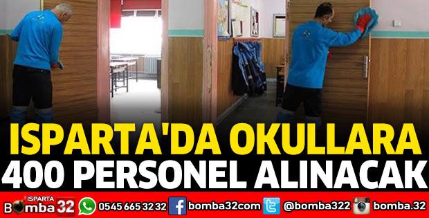 ISPARTA'DA OKULLARA 400 PERSONEL ALINACAK