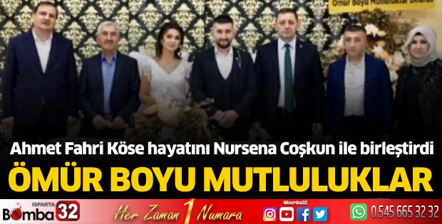 Ahmet Fahri Köse hayatını Nursena Coşkun ile birleştirdi