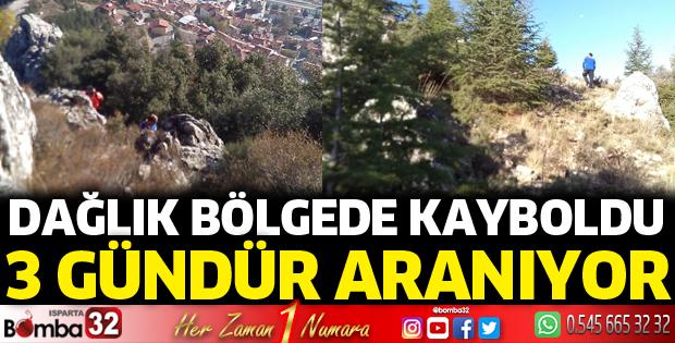Dağlık bölgede kaybolan Mehmet Dereli aranıyor