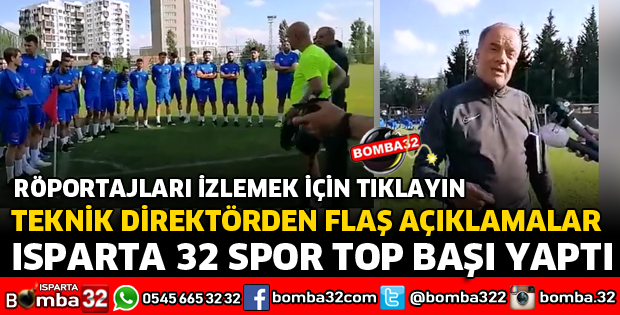 ISPARTA 32 SPOR TOP BAŞI YAPTI