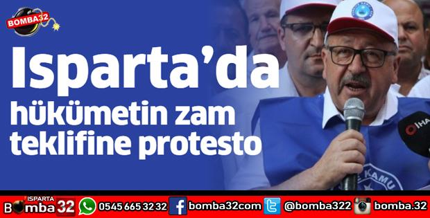 ıspartada zam protestosu