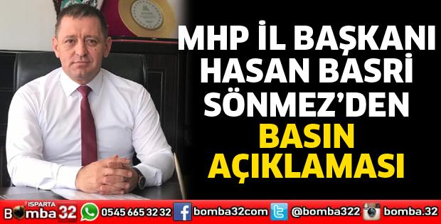 MHP İl Başkanı Sönmez'den basın açıklaması