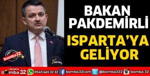 BAKAN PAKDEMİRLİ ISPARTA'YA GELİYOR
