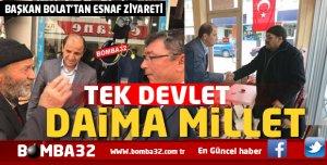 BAŞKAN ALİ BOLAT'TAN ESNAF ZİYARETİ