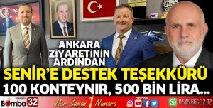 Başkan Borazancı'dan destek teşekkürü