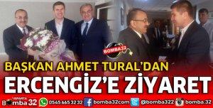 BAŞKAN TURAL BURDUR BELEDİYE BAŞKANI ERCENGİZ'İ ZİYARET ETTİ
