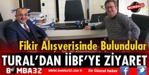 BAŞKAN TURAL MURAT OKÇU'YU ZİYARET ETTİ