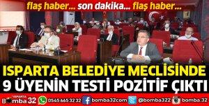 BELEDİYE MECLİSİNDE 9 ÜYENİN TESTİ POZİTİF
