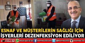 ESNAF ODALARI DEZENFEKSİYON EKİBİ SAHADA