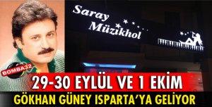 GÖKHAN GÜNEY SARAY MÜZİKHOL'DE SAHNE ALACAK