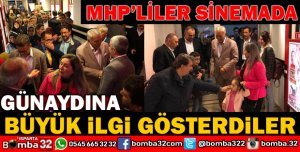 GÜNAYDIN VE MHP'LİLERİN SİNEMA KEYFİ