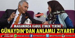 GÜNAYDIN'DAN ŞEHİT ANNESİNE ZİYARET
