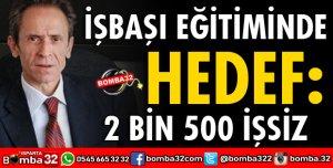 İŞBAŞI EĞİTİMİNDE HEDEF 2 BİN 500 İŞSİZ