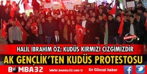ISPARTA AK GENÇLİK'TEN KUDÜS PROTESTOSU