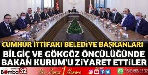Isparta Cumhur İttifakı Belediye Başkanları Ankara'da