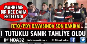 ISPARTA FETÖ/PDY DAVASINDAN 1 TAHLİYE