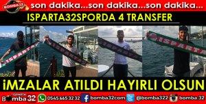 ISPARTA32SPOR TRANSFER GELİŞMESİ 4 FUTBOLCU İLE ANLAŞILDI
