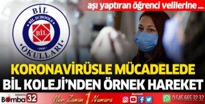 Koronavirüsle mücadelede BİL Koleji'nden örnek hareket