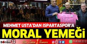Mehmet Usta'dan Ispartaspor'a moral yemeği