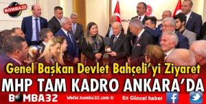 MHP TAM KADRO GENEL BAŞKAN BAHÇELİ'Yİ ZİYARET ETTİ