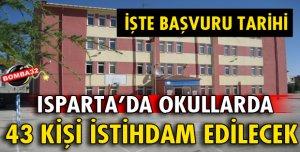 Okullarda 43 kişi istihdam edilecek