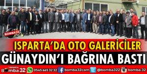 OTO GALERİCİLER BAŞKAN GÜNAYDIN'I BAĞRINA BASTI