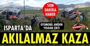 OTOMOBİL ANİDEN YOLDAN ÇIKTI!