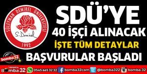 SDÜ'YE 40 İŞÇİ ALINACAK