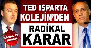 TED Isparta Kolejinden Radikal Karar