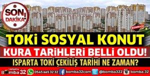 TOKi SOSYAL KONUT KURA TARİHLERİ BELLİ OLDU!