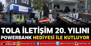 TOLA İLETİŞİM 20'NCİ YILINI POWERBANK HEDİYESİ İLE KUTLUYOR