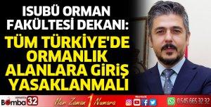 Türkiye'de ormanlık alanlara giriş yasaklanmalı