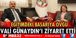 VALİ GÜNAYDIN AZERBAYCAN EĞİTİM MÜŞAVİRİNİ KABUL ETTİ