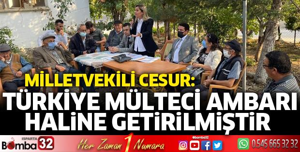 Türkiye mülteci ambarı haline getirilmiştir