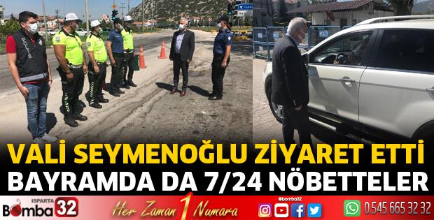 Vali Seymenoğlu trafik uygulama noktalarını ziyaret etti
