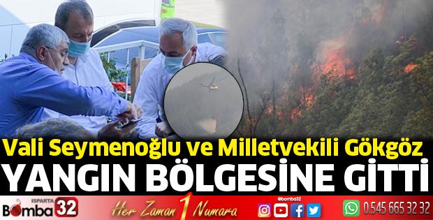 Vali Seymenoğlu ve Milletvekili Gökgöz yangın bölgesinde