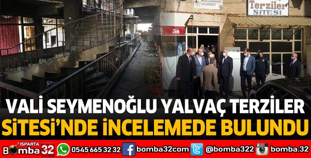 Vali Seymenoğlu Yalvaç Terziler Sitesi'nde İncelemelerde Bulundu