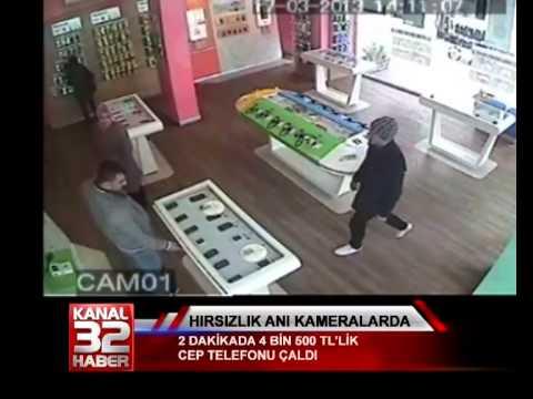 Hırsızlık anı kameralara yakalandı